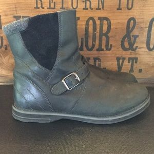 LL Bean Black Leather Boots, 9